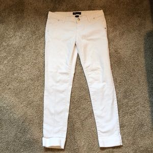 Blue Spice white jeans with cuffed bottoms, size 7